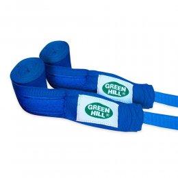 Боксерские бинты Green Hill эластик (синий)