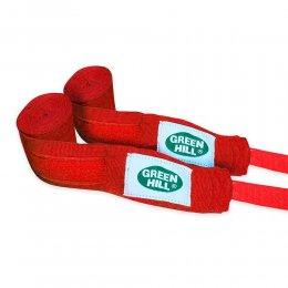 Боксерские бинты Green Hill эластик (красный)