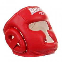 Шлем боксерский тренировочный Reyvel, PU (красный)