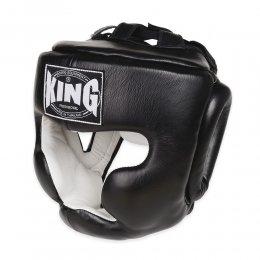 Шлем боксерский тренировочный King кожа (чёрный)