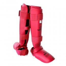 Защита голени и стопы Best Sport EKF Approved (красный)
