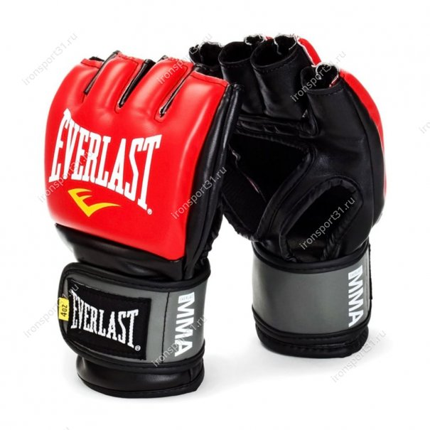 Перчатки для ММА Everlast Pro Style Grappling, PU (красный)