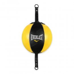 Боксёрская груша-растяжка Everlast кожа (чёрный/жёлтый)