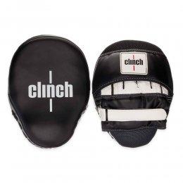Лапы боксёрские Clinch Focus Mitt Curve (черный/белый)