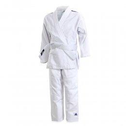 Кимоно для дзюдо Adidas Club с поясом (белый/чёрный)