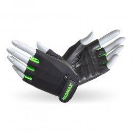 Перчатки женские Mad Max Rainbow (чёрный/зелёный)