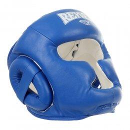 Шлем боксерский тренировочный Reyvel, PU (синий)
