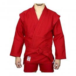 Куртка для самбо (самбовка) Атака лицензия ВФС (красный)