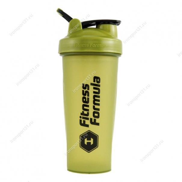 Шейкер Fitness Formula Full Color 600 мл (оливковый)