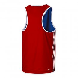 Майка боксёрская Adidas Reversible (красный/синий)