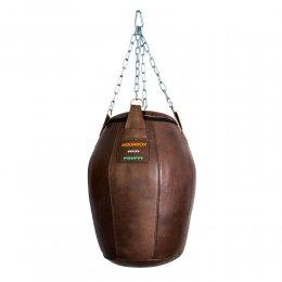 Груша боксёрская Aquabox Бочка, кожа (коричневый)