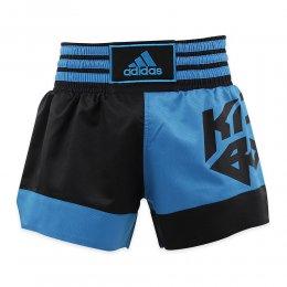 Шорты для кикбоксинга Adidas Micro Diamond (синий/чёрный)