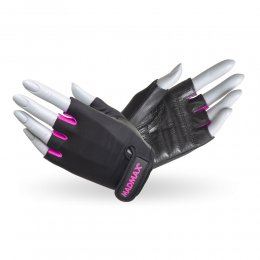 Перчатки женские Mad Max Rainbow (чёрный/розовый)
