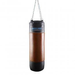 Боксёрский мешок TotalBox Gel кожа (чёрный/коричневый)