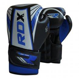 Перчатки боксёрские детские RDX Kids PU (сереб/синий)