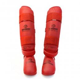 Защита голени и стопы детская Best Sport ФКР (красный)