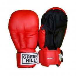 Перчатки для рукопашного боя Green Hill, PU (красный)