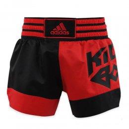 Шорты для кикбоксинга Adidas Micro Diamond (красный/чёрный)