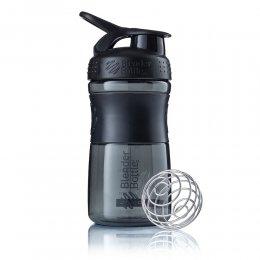 Шейкер Blender Bottle SportMixer 591 мл (чёрный/чёрный)