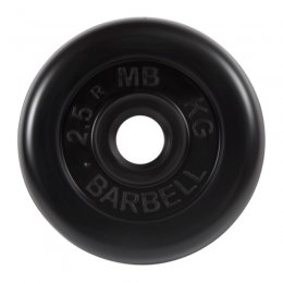 Диск обрезиненный MB Barbell (чёрный) d:31 мм, 2,5 кг