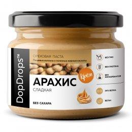 Ореховая паста DopDrops Арахис крем (сладкая) 250 гр