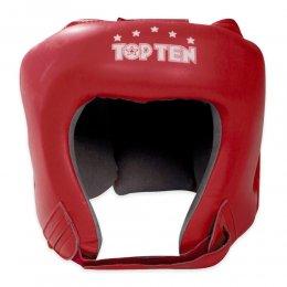 Шлем боксерский Top-ten AIBA кожа (красный)