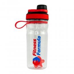 Шейкер - бутылка Fitness Formula 600 мл (прозрачный/красный)