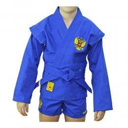 Куртка для самбо (самбовка) детская Крепыш лицензия ВФС (синий)