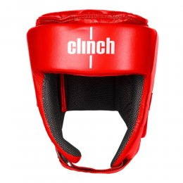 Шлем для кикбоксинга Clinch Helmet Kick PU (красный)