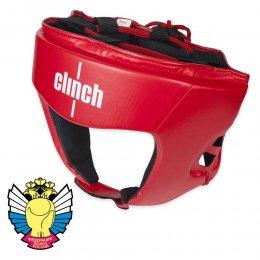 Шлем боксерский Clinch Olimp PU (красный)