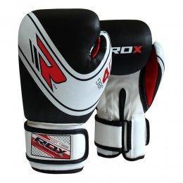 Перчатки боксёрские детские RDX Kids PU (чёрный/белый)