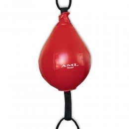 Боксёрская груша-растяжка AML кожа (красный)