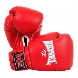 Перчатки боксёрские Reyvel, PU (красный)