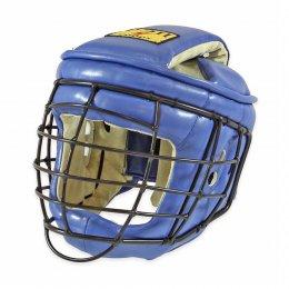 Шлем с маской для АРБ Рэй-спорт Титан-2 кожа (синий)