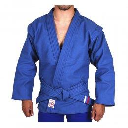 Куртка для самбо (самбовка) Атака лицензия ВФС (синий)