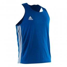 Майка боксёрская Adidas Boxing Top Punch Line (синий)