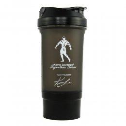 Шейкер Kevin Levrone - Fitness Formula с контейнером 600 мл (чёрный)