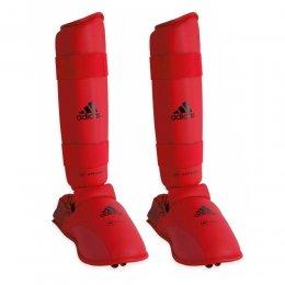 Защита голени и стопы Adidas WKF Approved (красный)