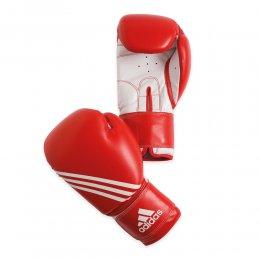 Перчатки боксёрские Adidas Training PU (красный/белый)