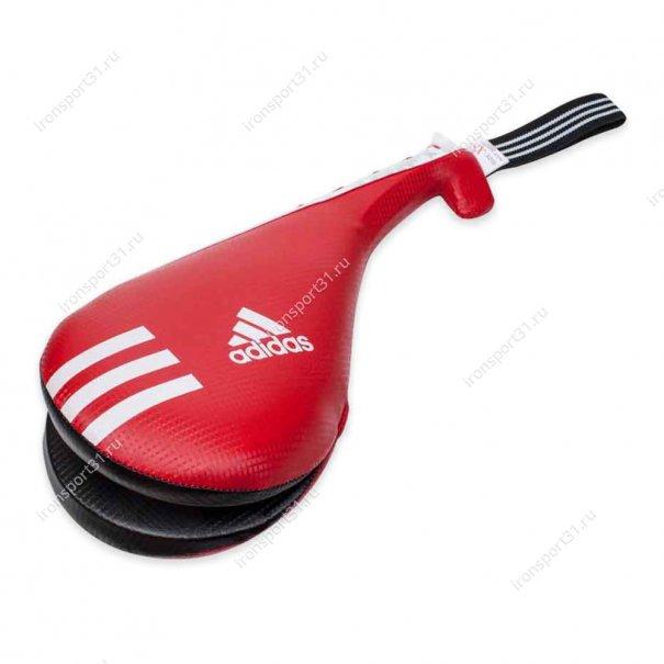 Ракетка детская двойная Adidas PU (красный/чёрный)