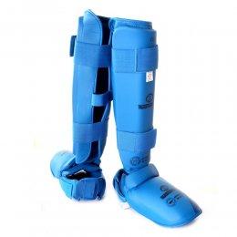 Защита голени и стопы Best Sport EKF Approved (синий)