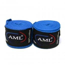 Боксерские бинты AML х/б (синий)