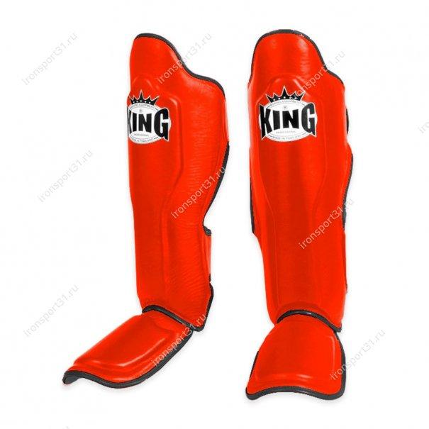 Защита голени и стопы King PU (красный)