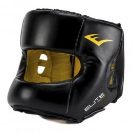 Шлем с бампером Everlast Elite PU (чёрный)