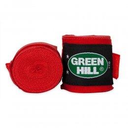 Боксерские бинты Green Hill х/б (красный)