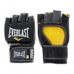 Перчатки для ММА Everlast Competition кожа (чёрный)