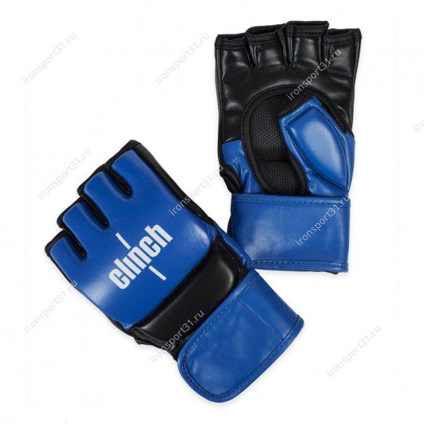Перчатки для MMA Clinch PU (синий/чёрный)