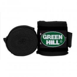 Боксерские бинты Green Hill х/б (чёрный)
