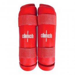 Защита голени Clinch Shin Guard Kick PU (красный)