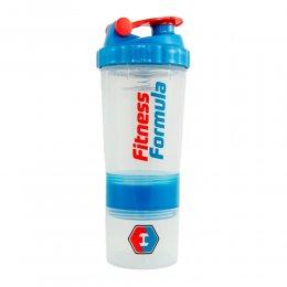 Шейкер Fitness Formula Spider с 2 контейнерами 500 мл (синий)